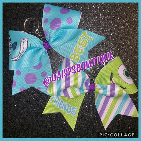 Mike and Sully keychain bows