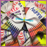 Back to school bow