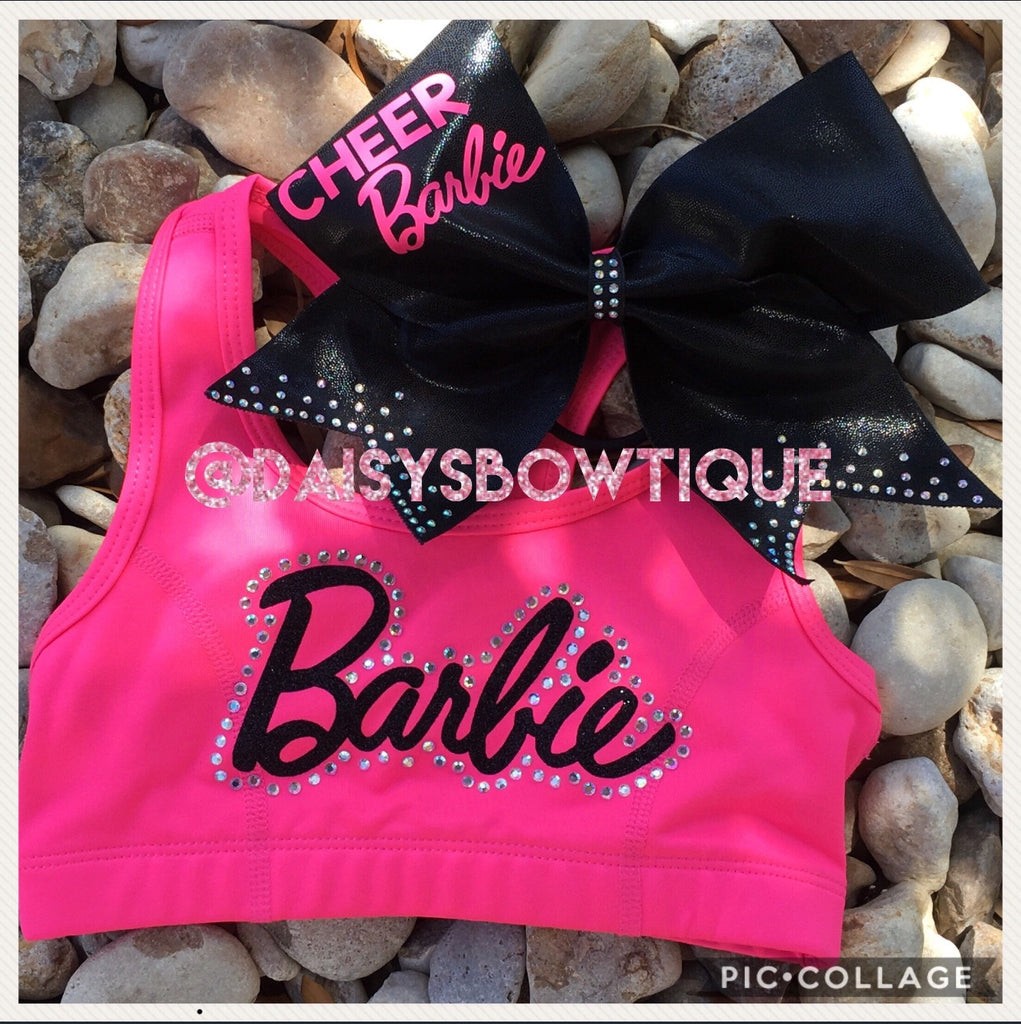 Cheer Barbie bow