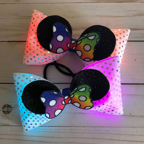 Tailless light up bows