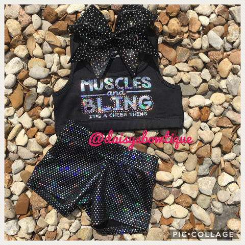 Muscles and bing sports bra set
