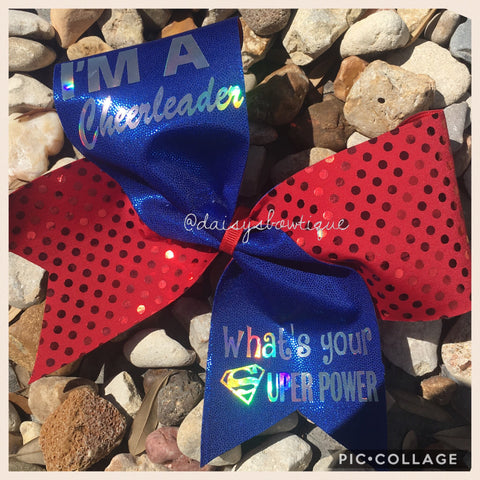 Super power cheer bow