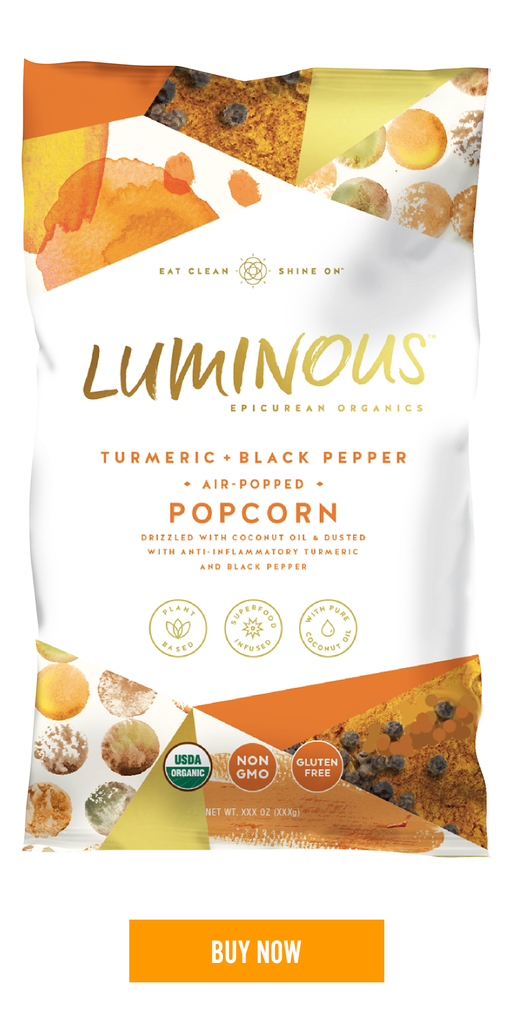 Turmeric and Black Pepper Air Popped Popcorn
