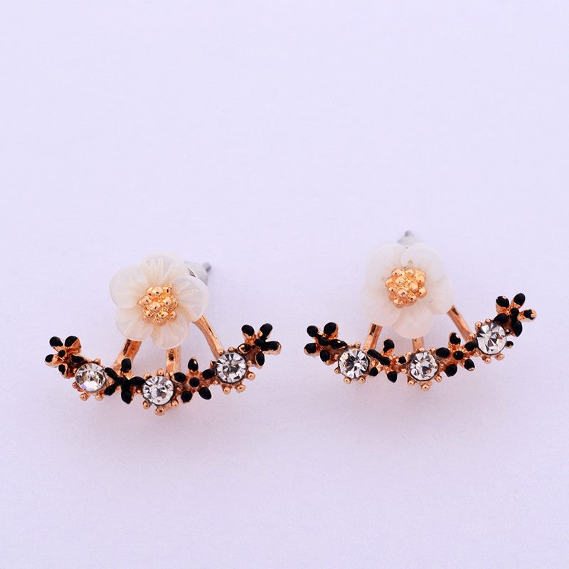 Crystal Stud Earrings Boucle d'oreille
