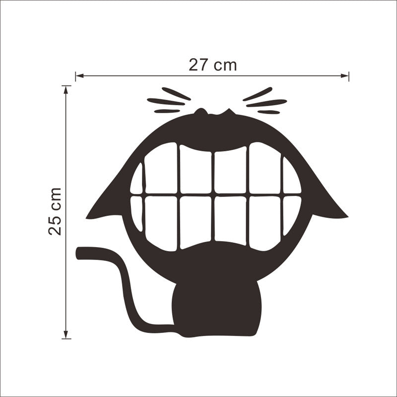 Big mouth smile cat stickers