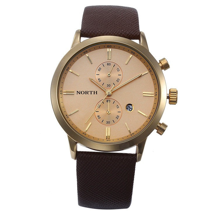 Casual Leather Sports Watch