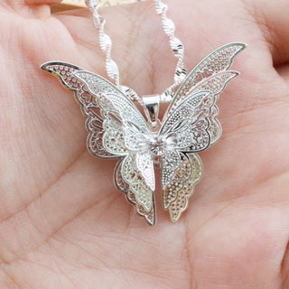 3D Crystal Rhinestone Butterfly Necklaces