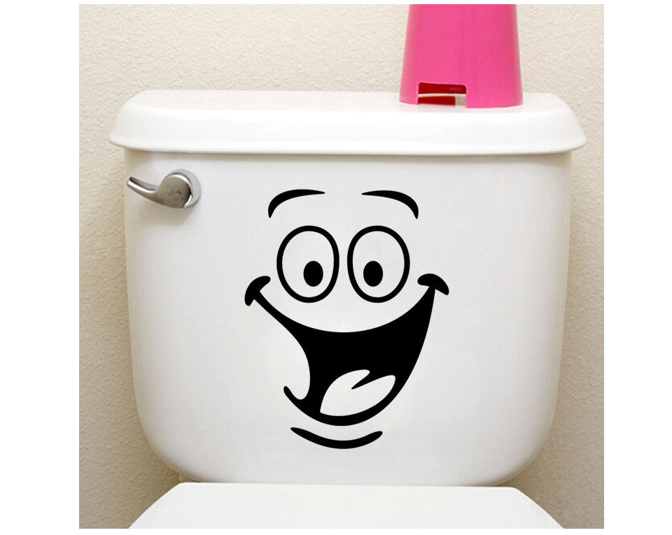 Big mouth toilet stickers