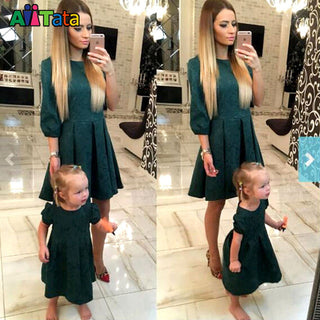 Mother daughter slim dresses