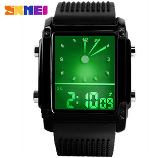 Watch Quartz Digital Rectangular Outdoor Military