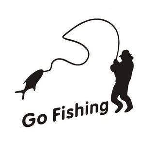 GO FISHING Car Stickers
