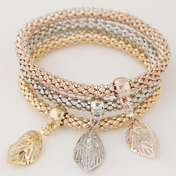 Rhinestones Gold Plated Hollow Tree of Life Bracelets