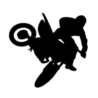 11.1*11.5CM Freestyle Motocross Car Stickers