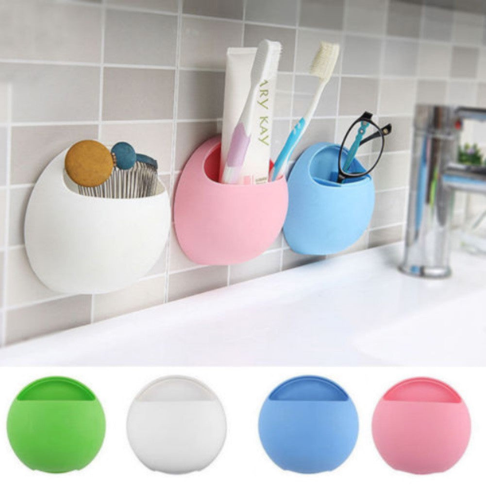 Multi-Colors Toothbrush Holder Toothpaste Squeezing Storage Box