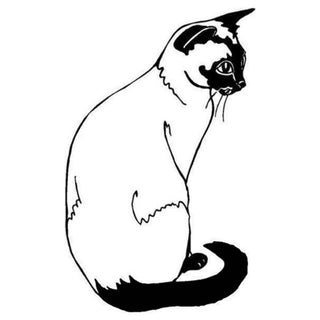 9.4*14.9CM Siamese Cat Car Sticker