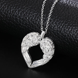 Charm Angel wings heart pendant