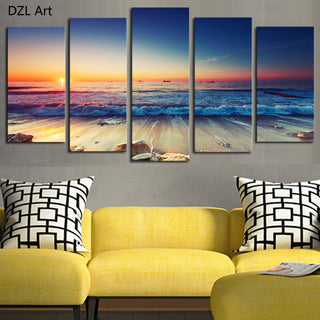 5 panels (No Frame) Seaview Wall Decor Painting