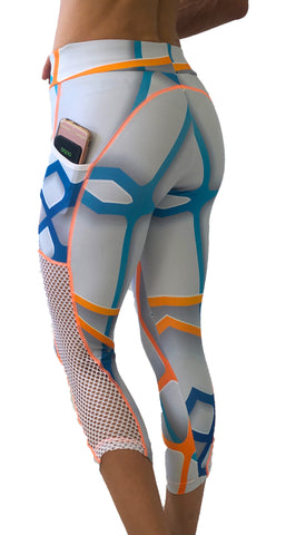 3/4 Tech Mesh Tights - LIQUIDSALT activewear