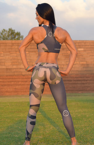 Camo Cheeky Bum Tights - LIQUIDSALT activewear