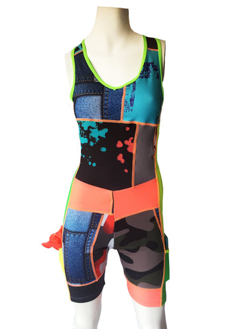 Ladies Rowing Tri Suit - Upcycled - LIQUIDSALT activewear