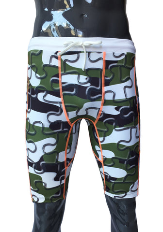 Double Layer Tech Shorts - Puzzle Camo - LIQUIDSALT activewear