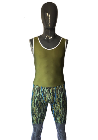 Men's Rowing Tri Suit - Camo - LIQUIDSALT activewear