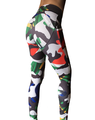 Cheeky Bum - SA Camo Tights - LIQUIDSALT activewear