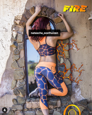 3,4 Tech Tights FIRE - LIQUIDSALT activewear