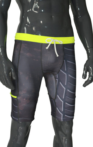 Double Layer Tech Shorts - Mud/Tyre - LIQUIDSALT activewear