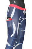 Tech Long Tights - Blue Logo - LIQUIDSALT activewear