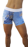 NEW Cheeky Bum Shorts- Vanilla Water - LIQUIDSALT activewear