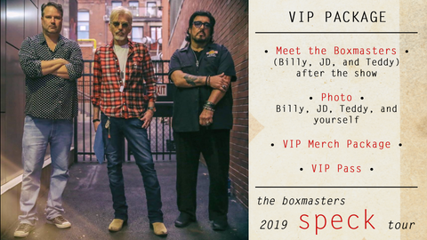 2019 Speck Tour <br>VIP Package