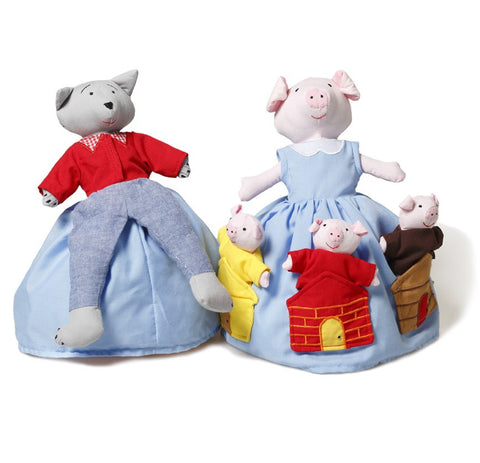 Oskar & Ellen Reversible Doll The Three Pigs