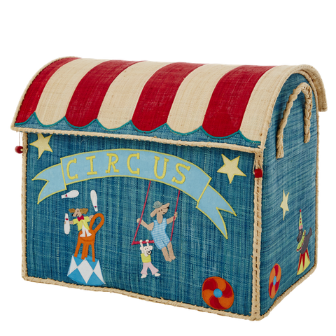 Rice A/S Large Raffia Circus Basket
