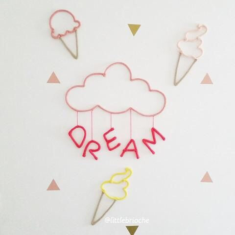 Personalized wall decor - Chloe and ice creams