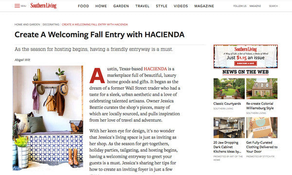 Hacienda Austin In Southern Living Magazine