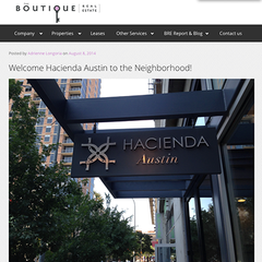 Boutique Real Estate Austin features Hacienda Austin