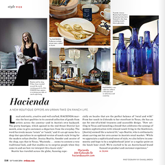 Tribeza Magazine Features Hacienda Austin