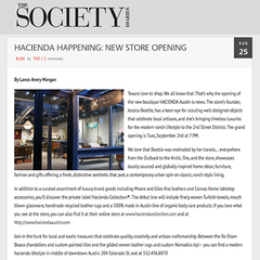 Dallas Society Magazine Features Hacienda Austin