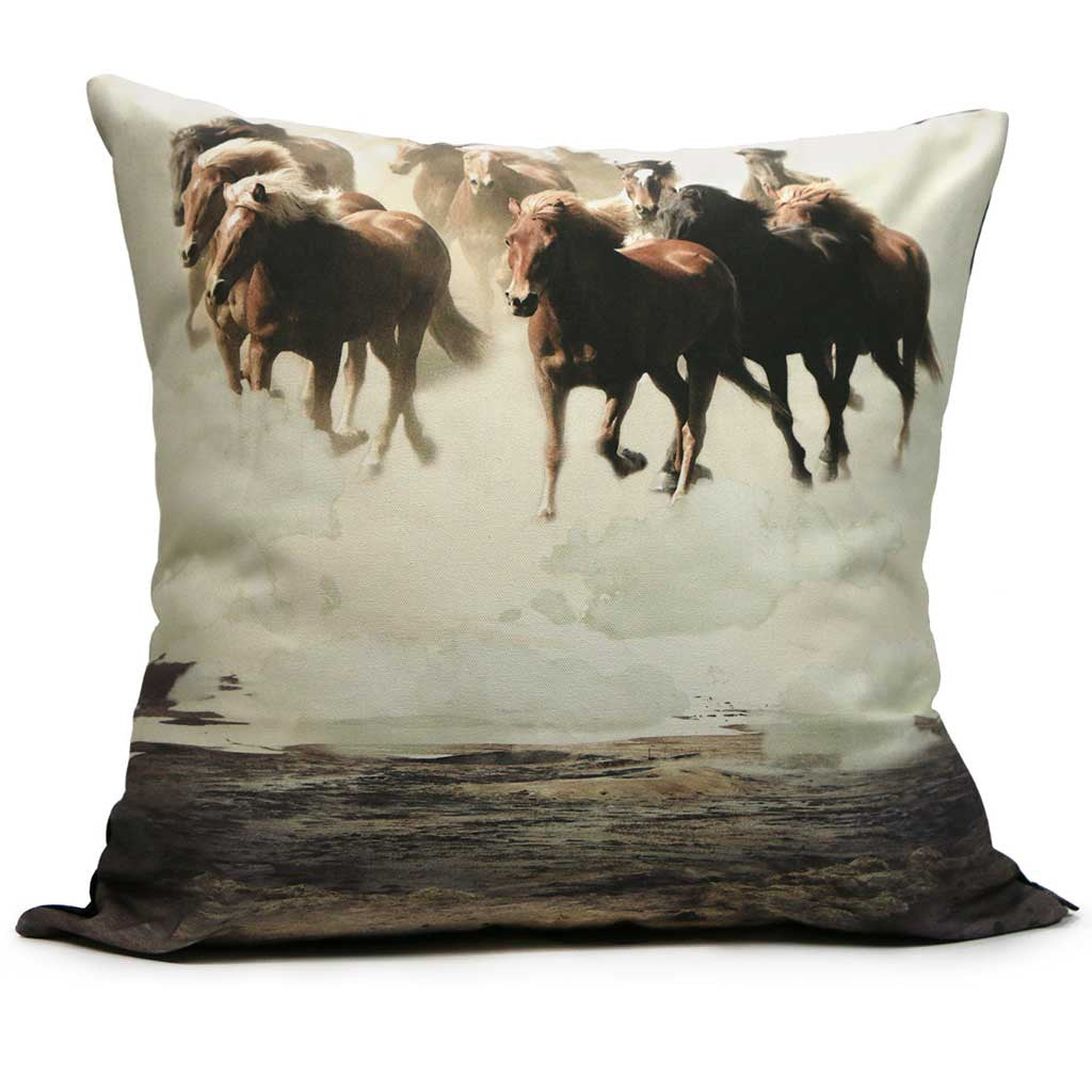 Throw Pillow - Running Horses