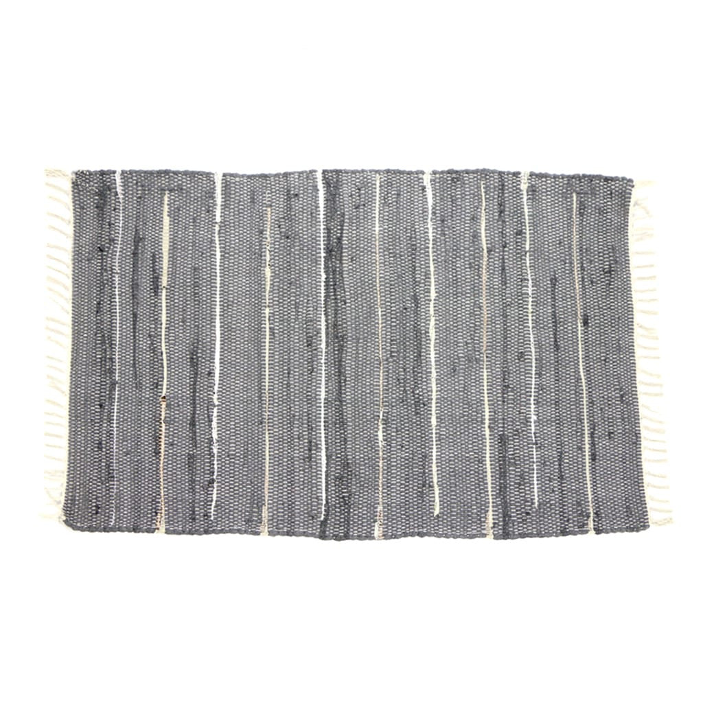 Rug - Recycled Cotton with Metallic Leather