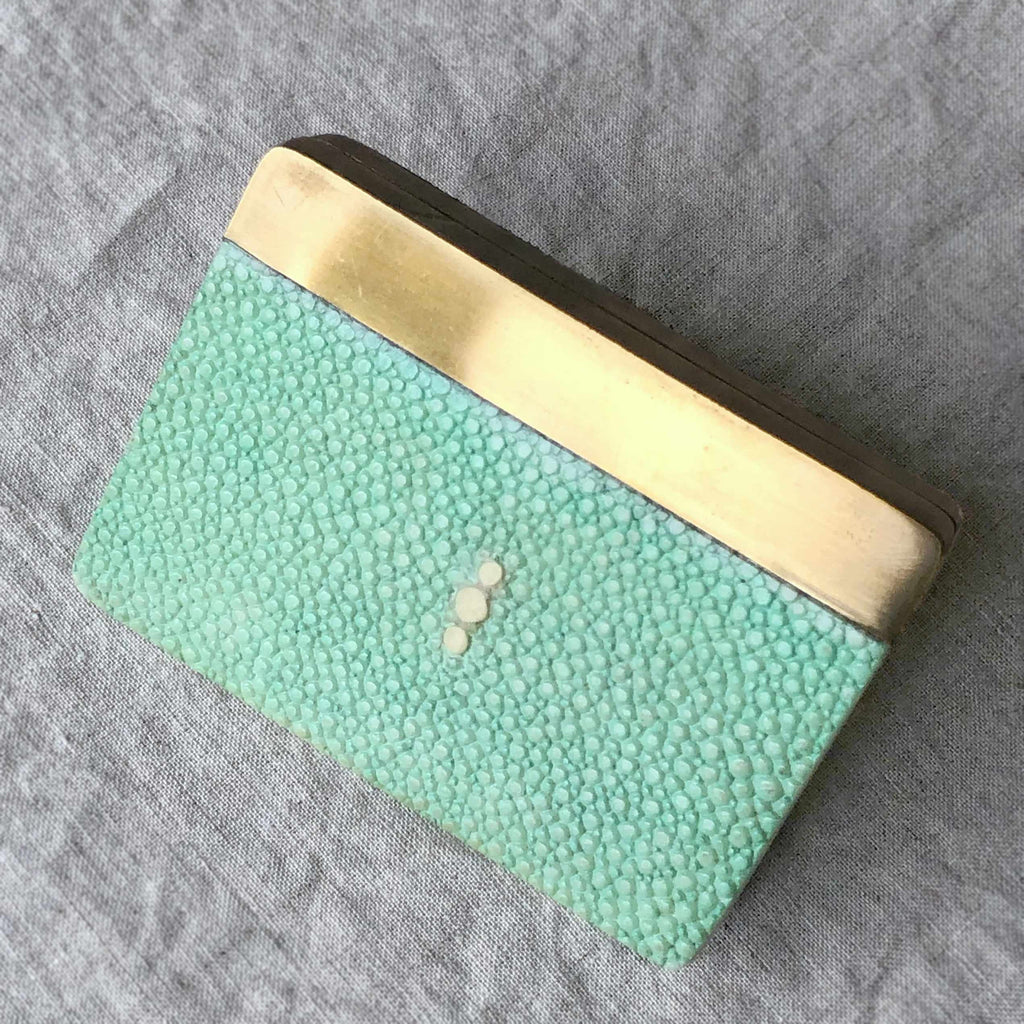 Shagreen Card Case by R&Y Augousti