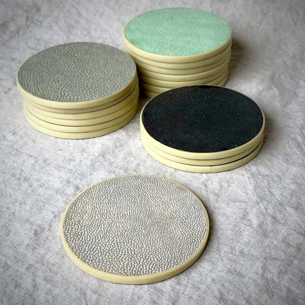 Shagreen Coasters by R&Y Augousti