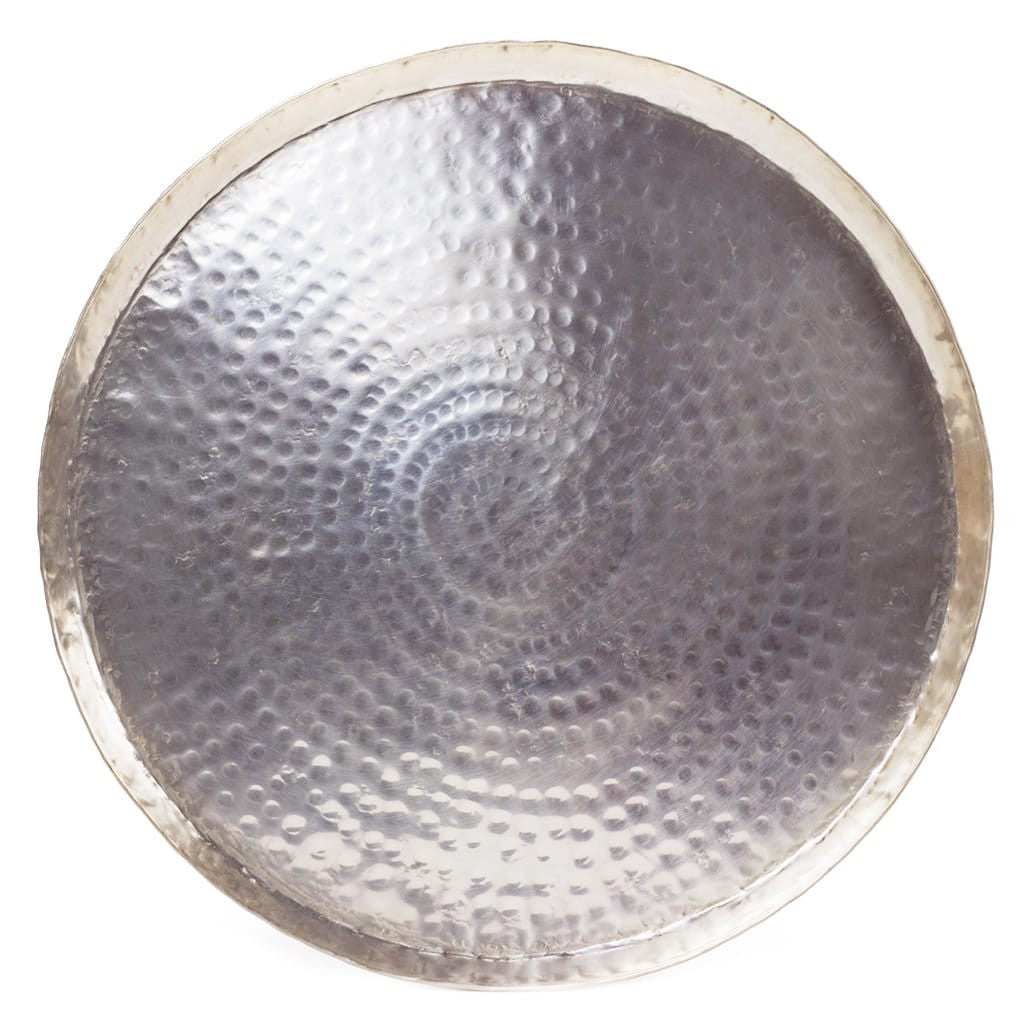hammered silver tray