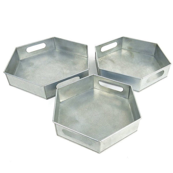 Galvanized Hex Tray