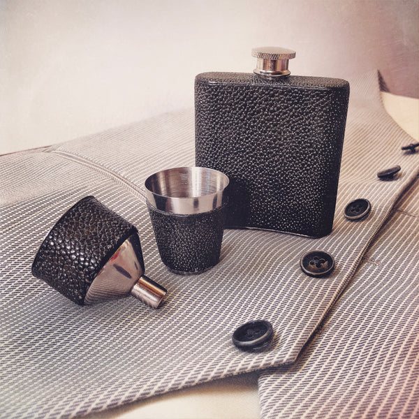 Shagreen Flask Set by Augousti Stevenson