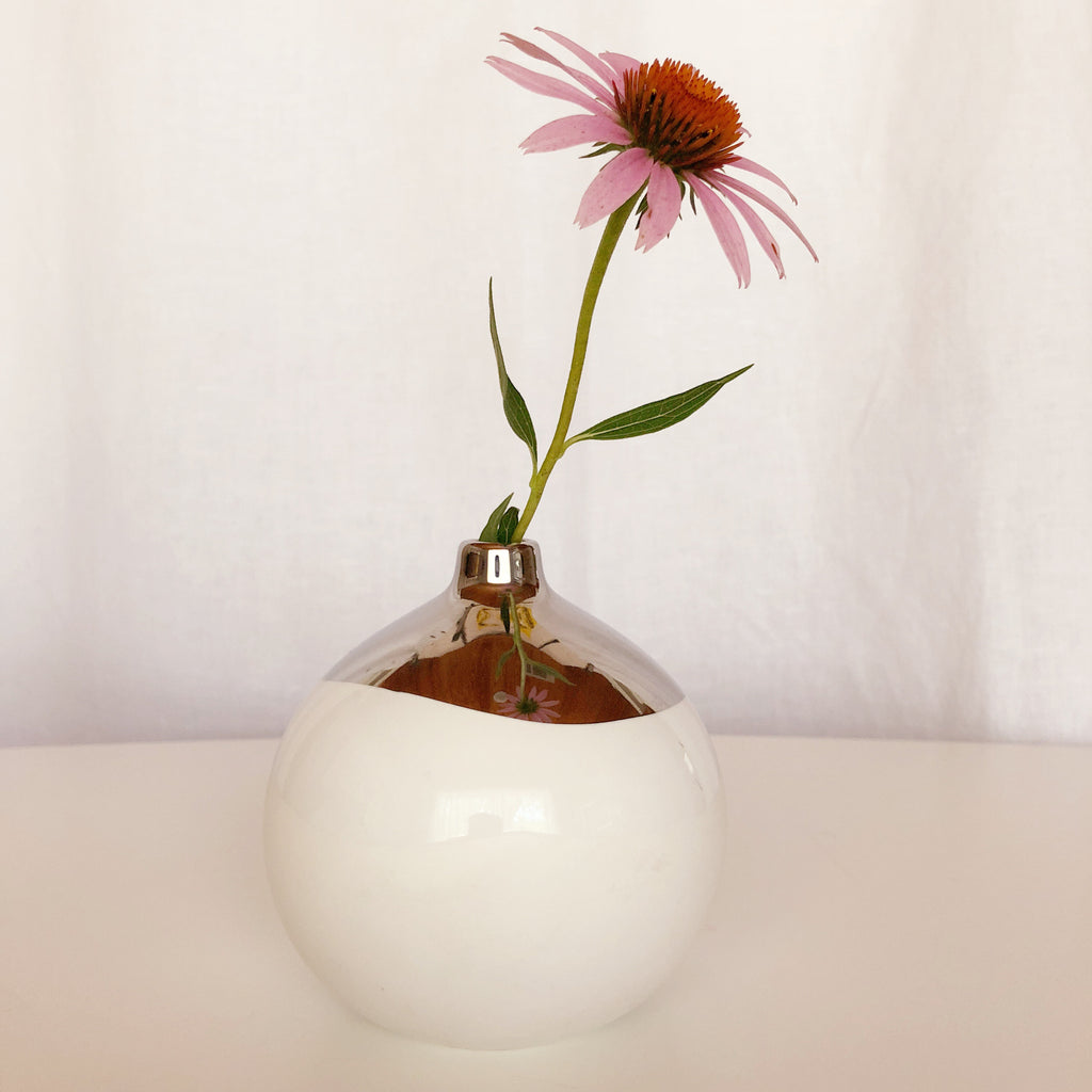 Canvas Home Dauville Bud Vase - Platinum