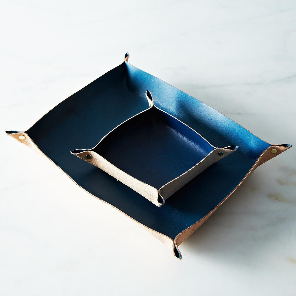 Blue Leather Tray (large)