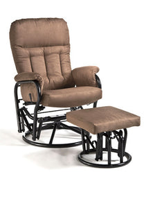 Smokey Quartz Swivel Glider and Ottoman