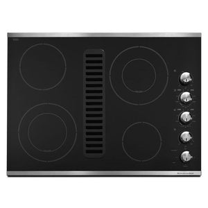 "KitchenAid 30"" Downdraft Electric Cooktop"
